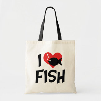 I Love Heart Fish - Aquarium Lovers Tote Bag
