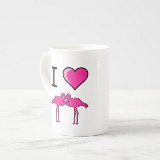 I Love (Heart) Flamingos Tea Cup