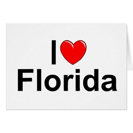 I Love (Heart) Florida Card