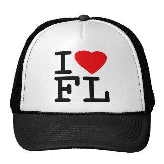 I Love Heart Florida Mesh Hats