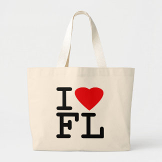 I Love Heart Florida Large Tote Bag