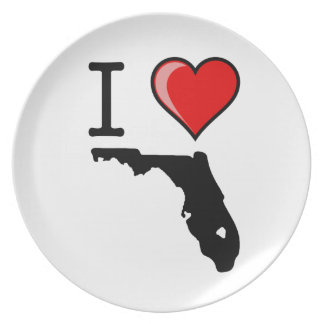 I Love Heart Florida Dinner Plates