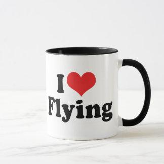 I Love Heart Flying - Airplane Lover Mug