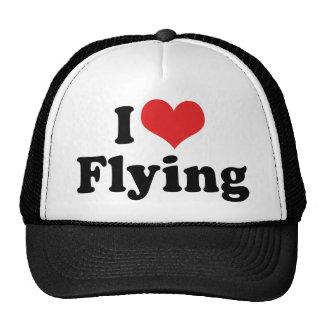 I Love Heart Flying - Airplane Lover Trucker Hat