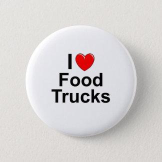 I Love Heart Food Trucks Button