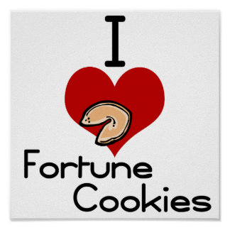 I love-heart fortune cookie print