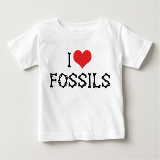 I Love Heart Fossils - Paleontology Fossil Hunter Baby T-Shirt