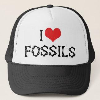 I Love Heart Fossils - Paleontology Fossil Hunter Trucker Hat