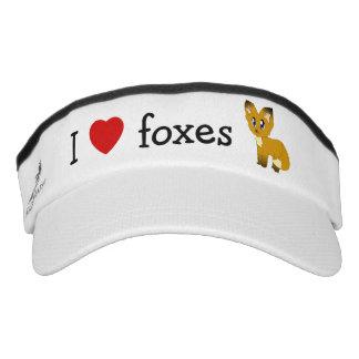 I Love/Heart Foxes Headsweats Performance Visor