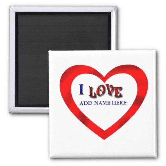 I LOVE HEART FRAME-MAGNET MAGNET