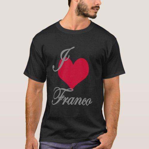 I Love Heart Franco Dark T_Shirt