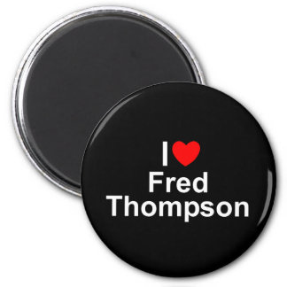I Love (Heart) Fred Thompson 2 Inch Round Magnet