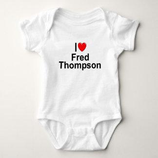 I Love (Heart) Fred Thompson Baby Bodysuit