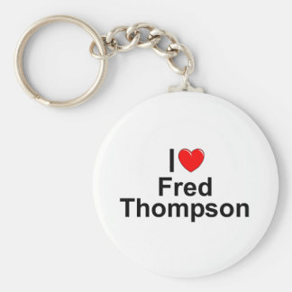 I Love (Heart) Fred Thompson Basic Round Button Keychain
