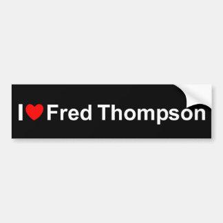 I Love (Heart) Fred Thompson Car Bumper Sticker