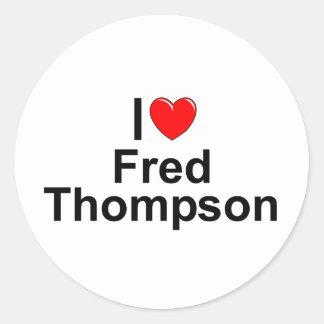 I Love (Heart) Fred Thompson Classic Round Sticker