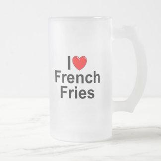 I Love (Heart) French Fries Coffee Mugs