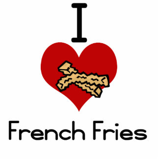 I love-heart french fries cut outs