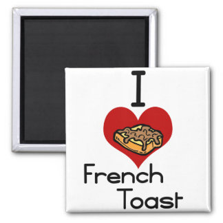 I love-heart french toast refrigerator magnet