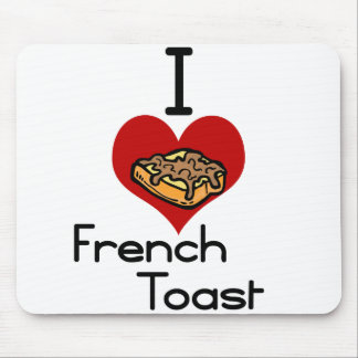 I love-heart french toast mouse pad