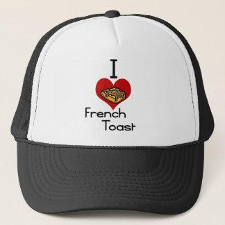 I love-heart french toast trucker hat