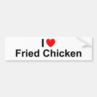 I Love Heart Fried Chicken Bumper Sticker