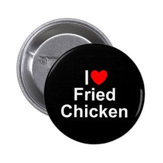 I Love (Heart) Fried Chicken Button