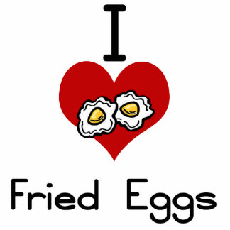 I love-heart fried eggs cut out