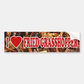 I Love (Heart) Fried Grasshopper Car Bumper Sticker