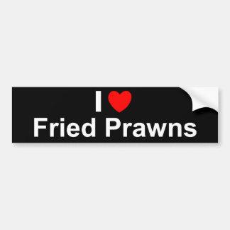 I Love Heart Fried Prawns Bumper Sticker