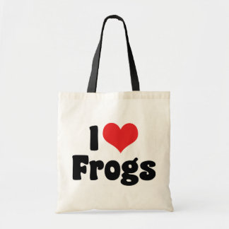 I Love Heart Frogs Tote Bag