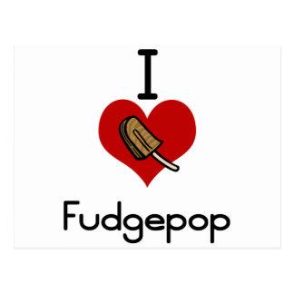 I love-heart fudgesicle post cards