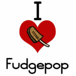 """I love-heart fudgesicle statuette<br><div class=""""desc"""">I love-heart fudgesicles If you love to eat then you will love this great foodie design.  show everyone what you favorite food is with this delicious creation.</div>"""