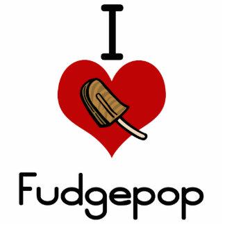 I love-heart fudgesicle statuette
