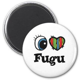 I Love (Heart) Fugu Refrigerator Magnet