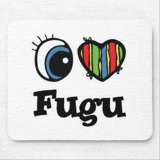 I Love (Heart) Fugu Mouse Pad