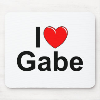 I Love (Heart) Gabe Mouse Pad