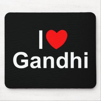 I Love (Heart) Gandhi Mousepad