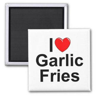 I Love (Heart) Garlic Fries Fridge Magnets