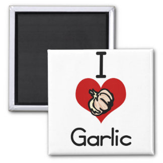 I love-heart garlic magnet