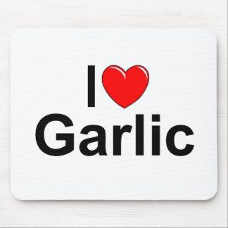 I Love (Heart) Garlic Mouse Pad