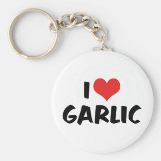 I Love Heart Garlic - Stinking Rose Lover Keychain