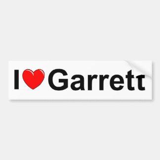 I Love (Heart) Garrett Bumper Sticker