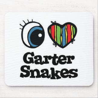 I Love (Heart) Garter snakes Mouse Pad