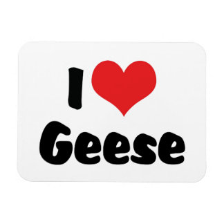 I Love Heart Geese - Goose Lover Magnet
