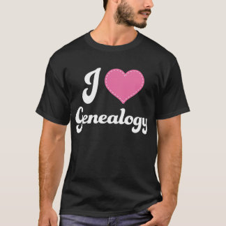 I Love (Heart) Genealogy T-Shirt