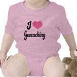 I Love (Heart) Geocaching Baby Bodysuit