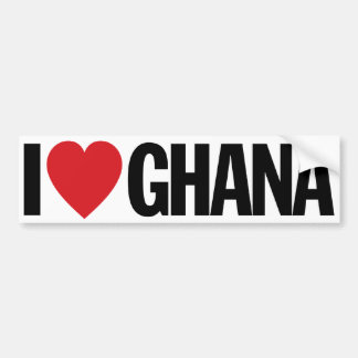 "I Love Heart Ghana 11"" 28cm Vinyl Decal"