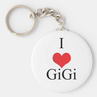 I Love (Heart) GiGi Basic Round Button Keychain