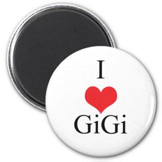 I Love (Heart) GiGi 2 Inch Round Magnet